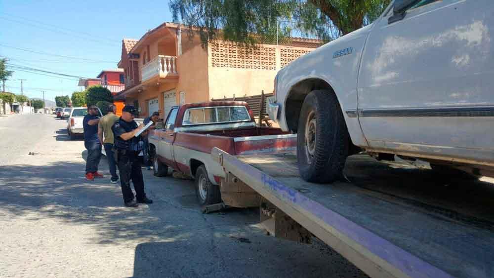 Retiran de las calles autos abandonados y siniestrados en Tijuana