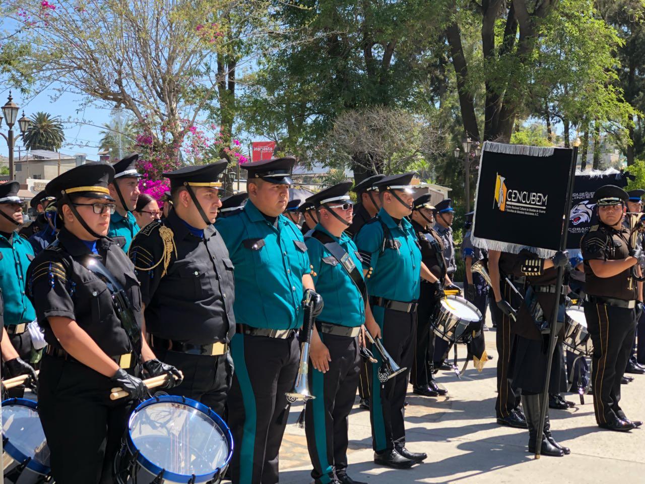 Se celebró en Tecate el VIII Concurso Estatal de Bandas de Guerra