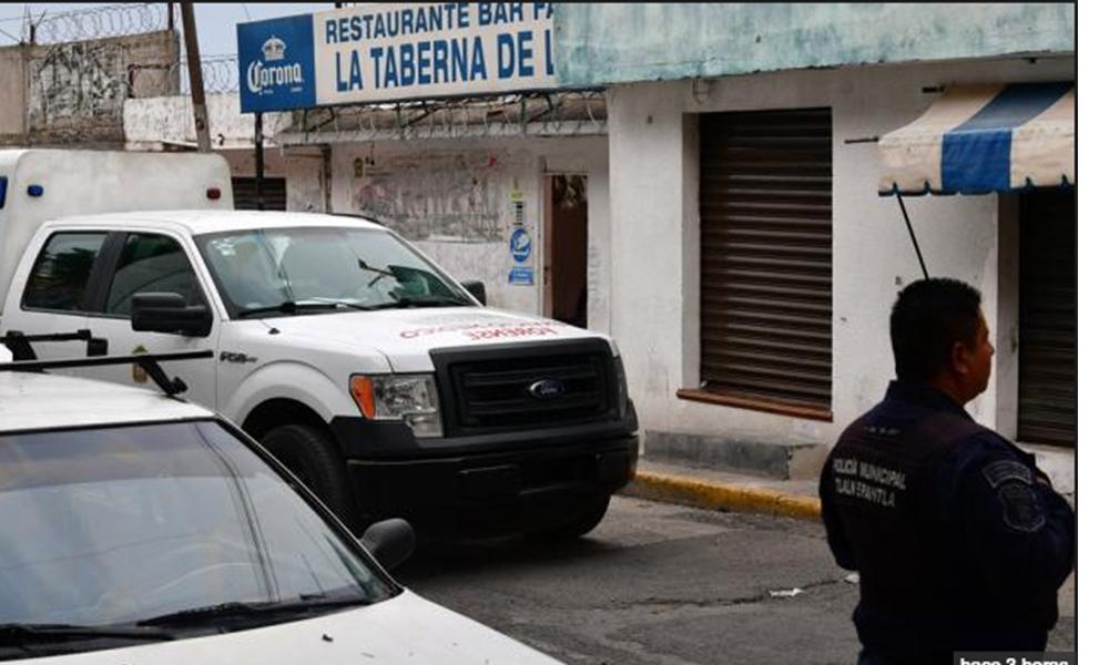 Balacera en bar deja un muerto y tres heridos en Tlalnepantla