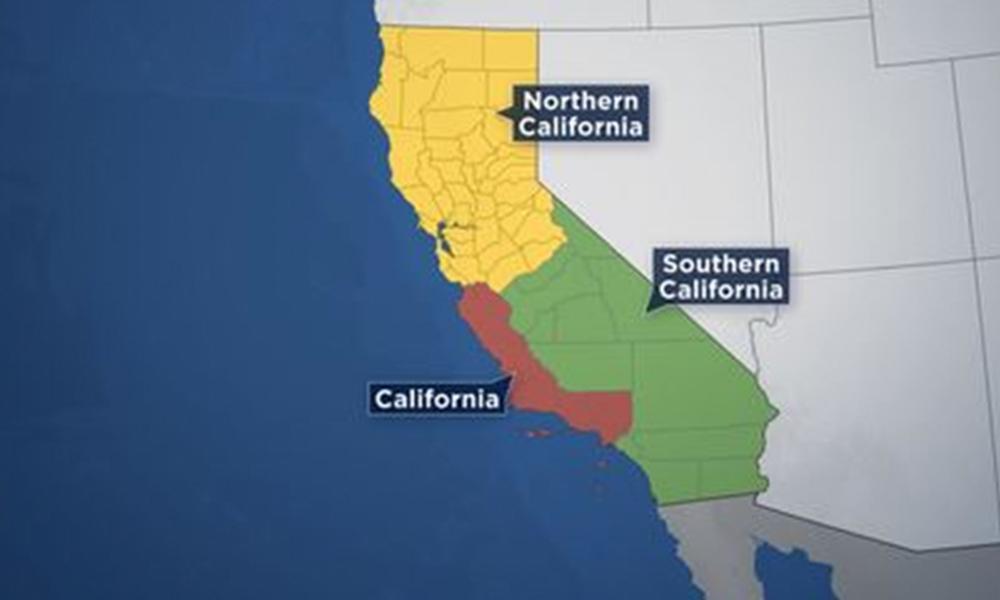 Buscan dividir a California en tres