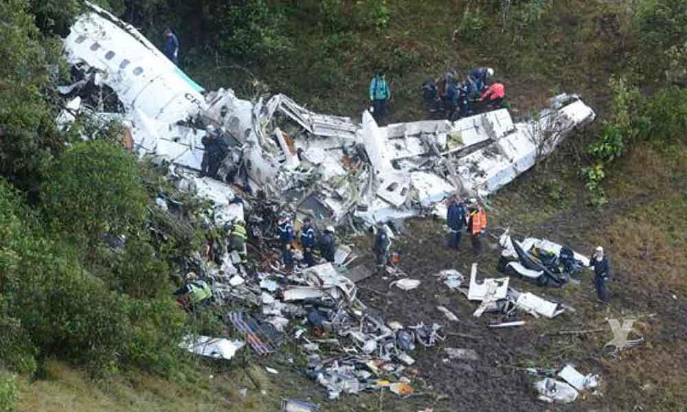 El accidente aéreo del Chapecoense fue por falta de combustible; informe final