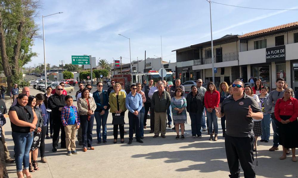 Conmemoran en Tecate octavo aniversario del sismo que afectó la capital del estado