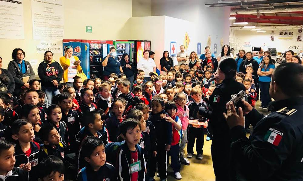 Conviven 220 niños de preescolar con agentes de la Policía Municipal en Tijuana