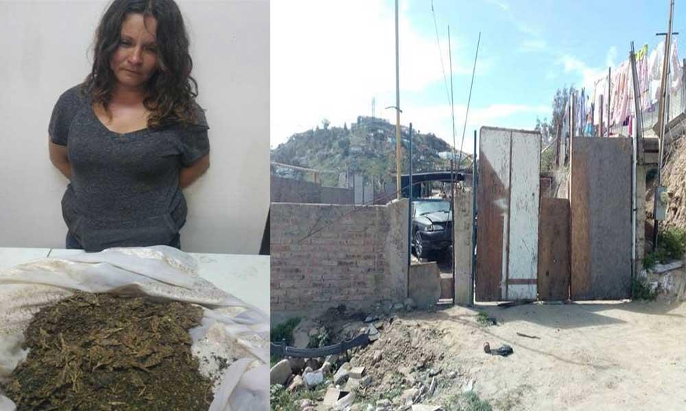 Decomisan marihuana y cristal en cateo de domicilio; una mujer detenida en Tijuana