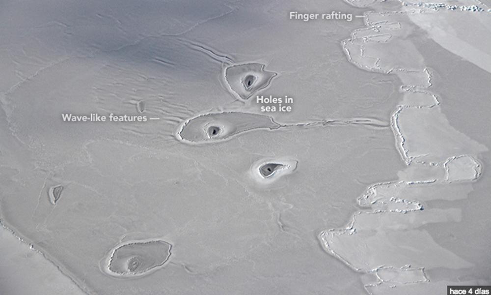 Descubre la NASA unos misteriosos agujeros en el Ártico