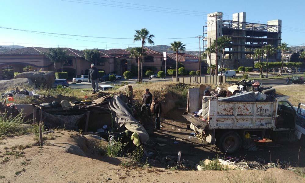 Destruyen picadero en Tecate