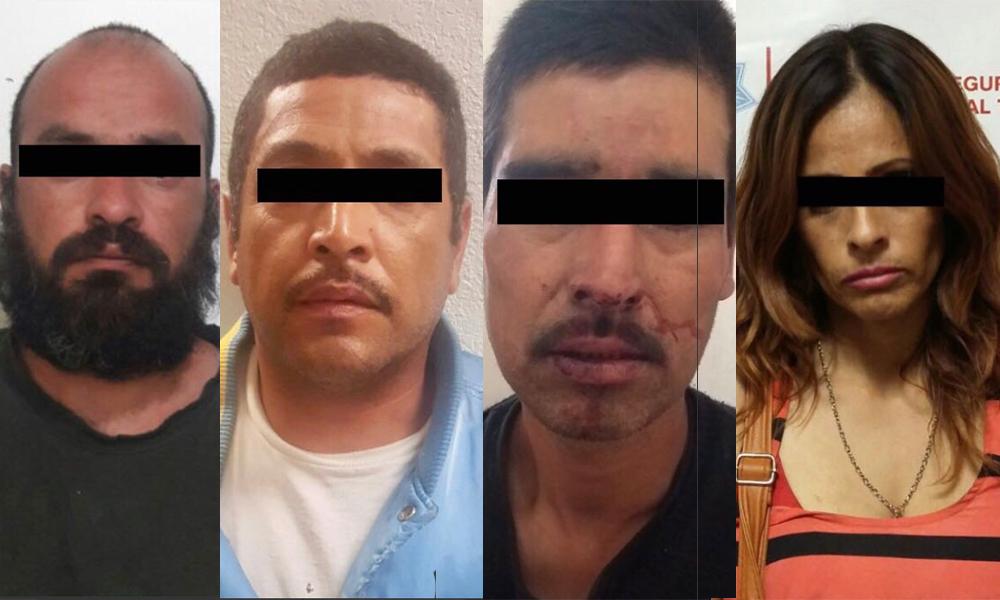 Capturan a tres hombres y una mujer por diversos delitos en Tecate