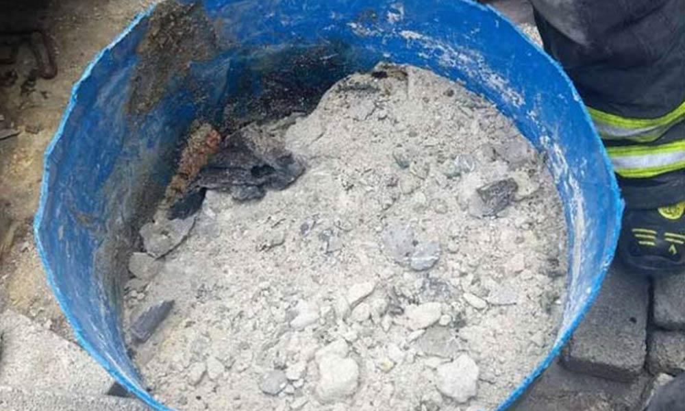 Hallan restos humanos en tambo de cemento; familiares lo buscaban