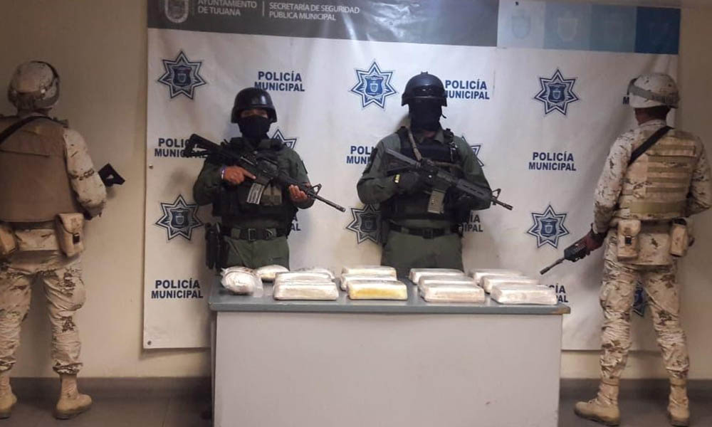 Incautan más de 17 kilos de droga en Tijuana