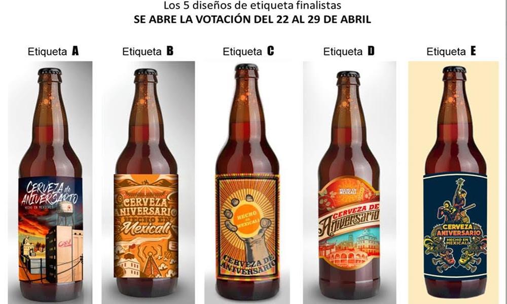 Invitan a votar por los diseños de etiqueta de la cerveza artesanal 115 aniversario de Mexicali