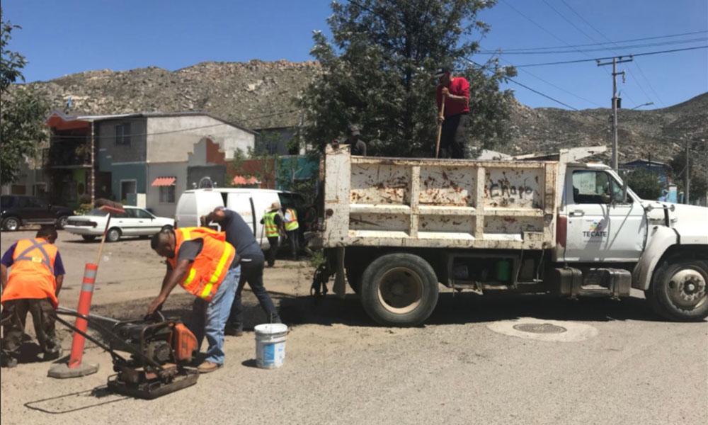 Mantienen en Tecate los trabajos de rehabilitación de vialidades en San Pablo