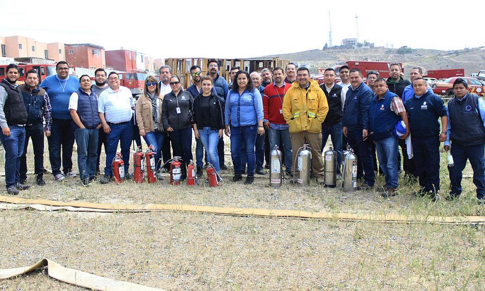Participa personal del Gobierno del Estado en taller de combate de incendios