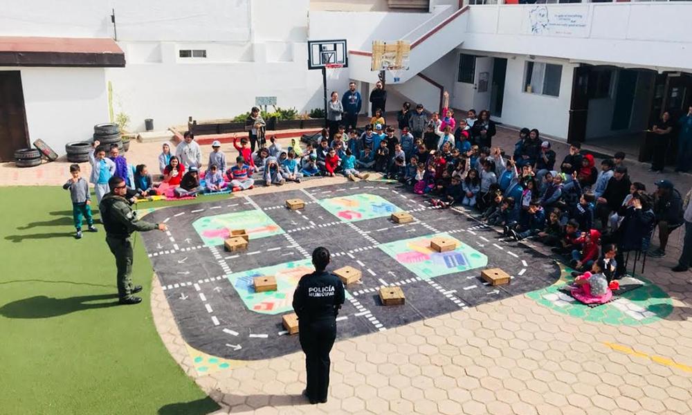Participan 120 niños en taller de educación vial en Tijuana