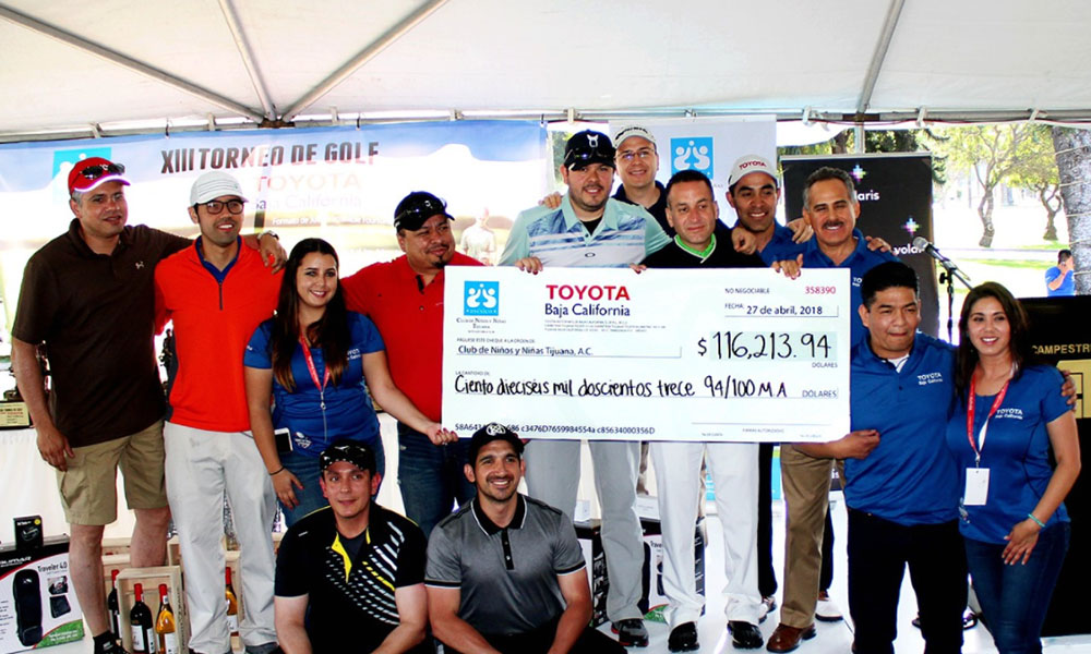 Realiza Toyota Baja California torneo de Golf a beneficio de niños vulnerables
