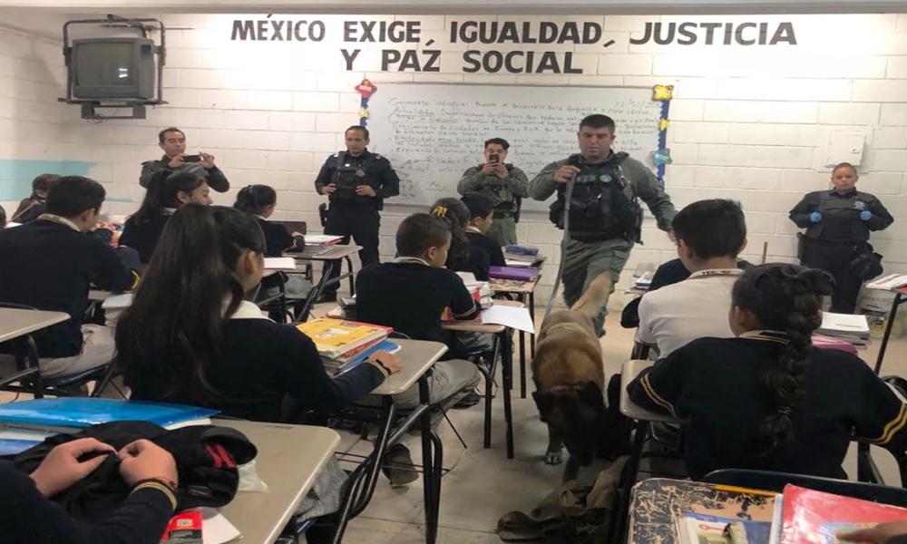 "Realizan operativo ""Mochila Segura"" en la delegación de La Presa en Tijuana"