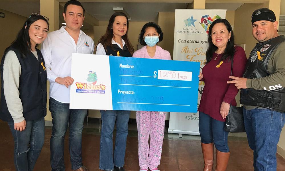 "Reciben donativo del evento ""Tacoton"" a beneficio de niños con cáncer en Tijuana"