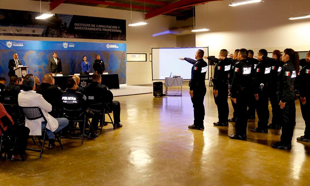 Se integran 19 elementos a la Policía Municipal de Tijuana