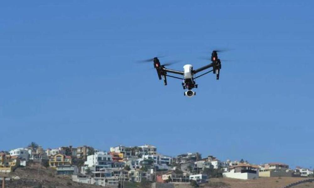 Utilizan dron para detener delincuentes en Ensenada