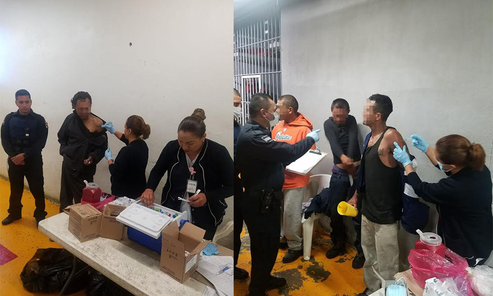 Vacunan a 112 infractores contra Influenza y Tétano en la Estancia Municipal Infractores en Tijuana