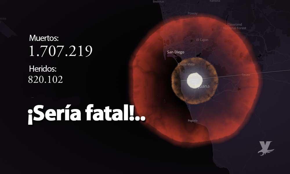 ¿Qué pasaría si una bomba nuclear cayera cerca de Baja California? Este simulador lo muestra…
