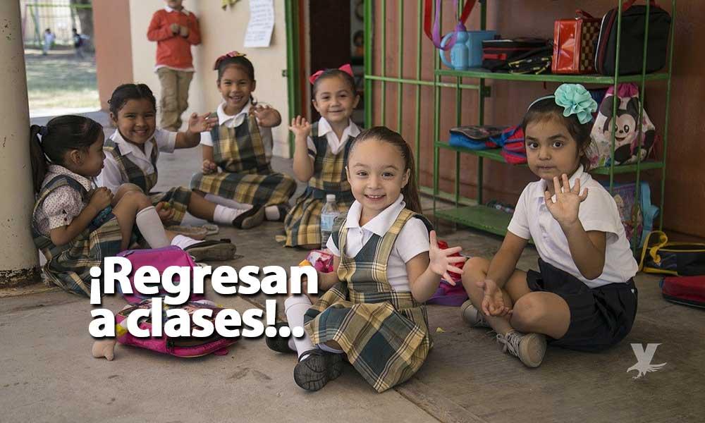 Mañana reinician clases jóvenes y niños de etapa básica en Baja California