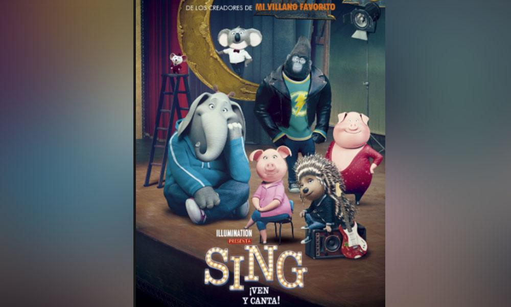 """Invitan a ver """"Sing ven y canta"""" en el cinemiércoles del CREA en Mexicali"""