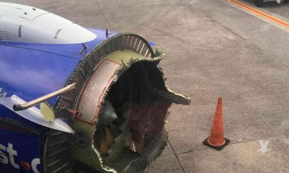 Muere persona por explosión de motor en avión de Southwest