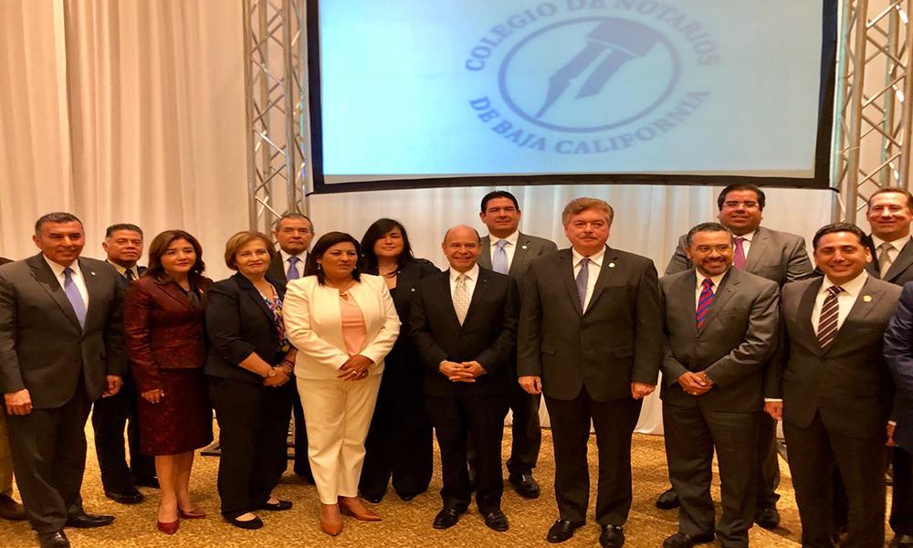 Reconocen aportación del Colegio de Notarios a la sociedad en Tecate