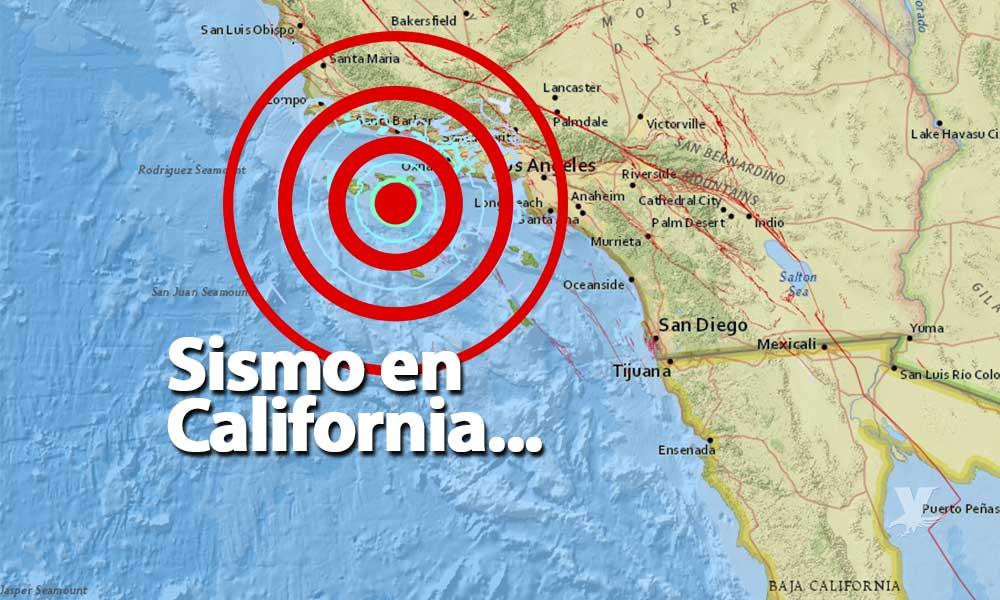 Sismo sacude al sur de California