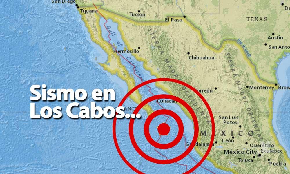 Se registran dos sismos al sur de los Los Cabos en Baja California Sur