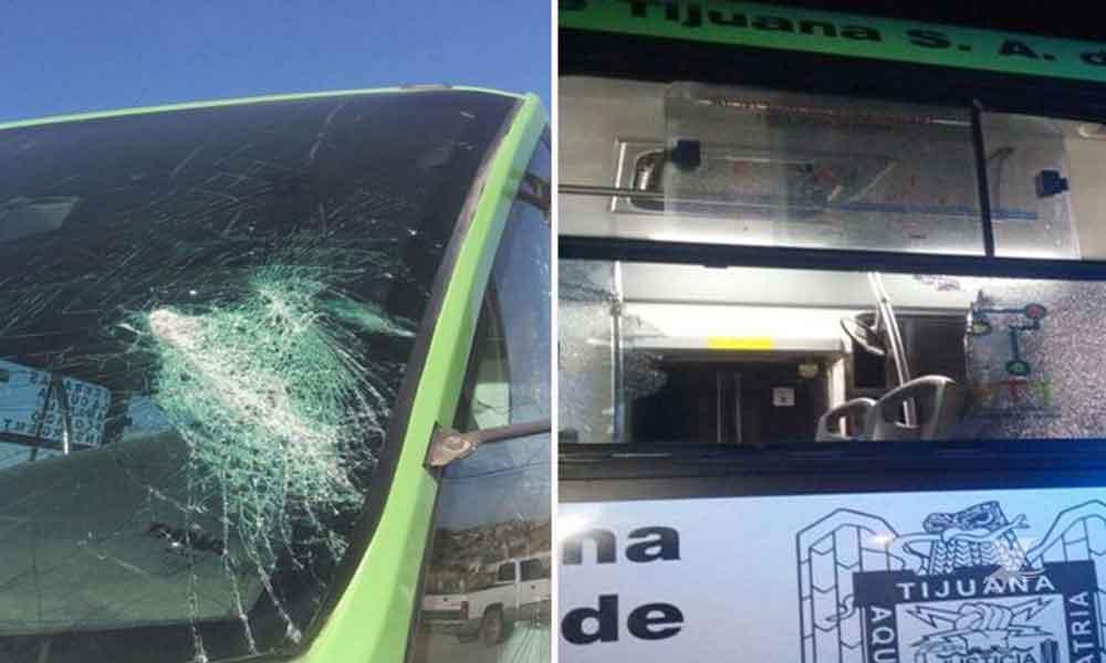 Atacan unidades del Sistema Integral de Transporte de Tijuana (SITT)