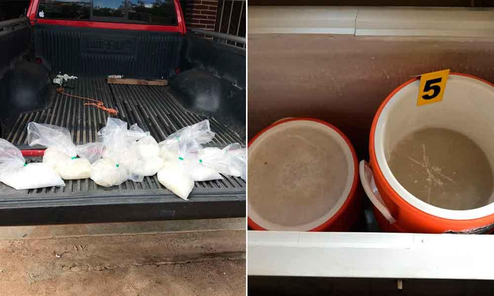 Aseguran casi 500 kilos de metanfetamina en Cerro Azul