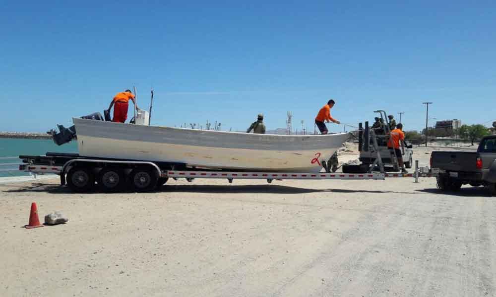 Aseguran embarcación por realizar pesca ilegal en San Felipe