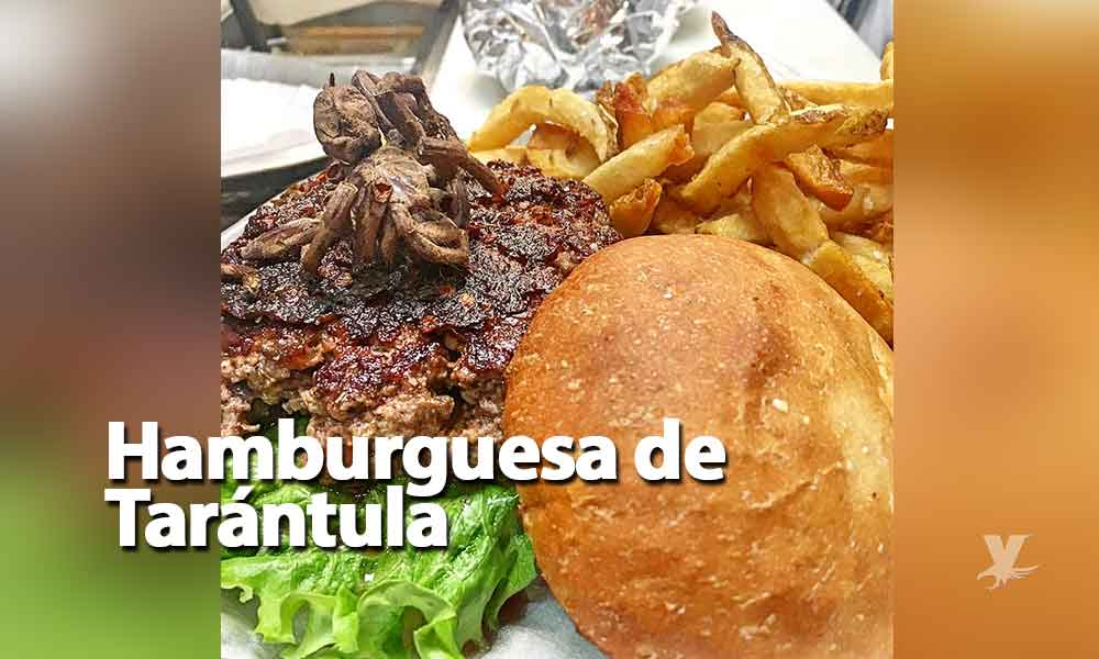 ¿Te atreves a probarla? Restaurante sirve una hamburguesa de Tarántula
