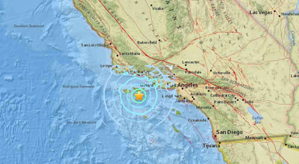 Así se vivió el sismo que sacudió la costa de California