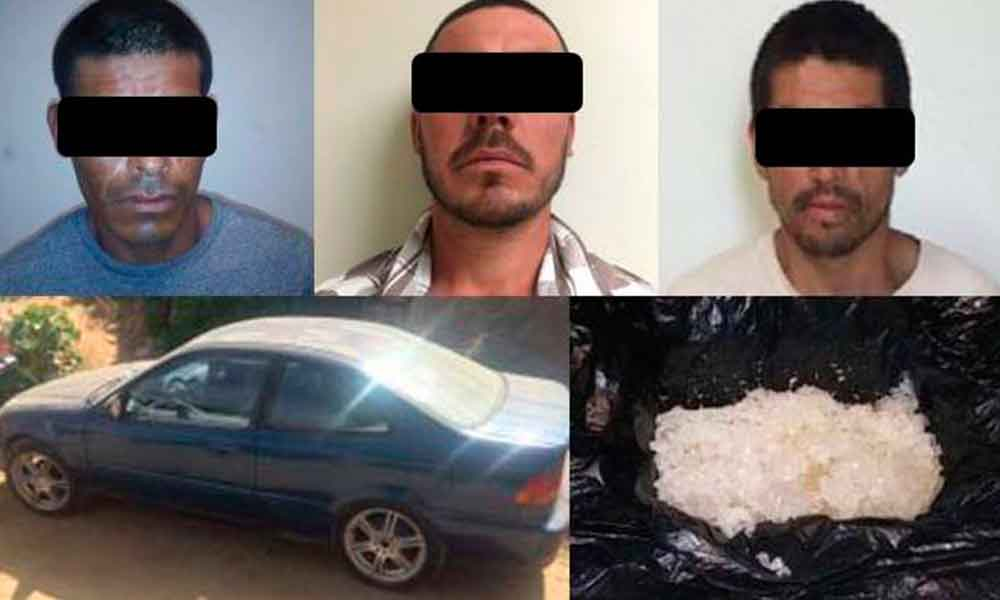 Capturan a tres y recuperan un vehículo robado durante operativo en Tecate