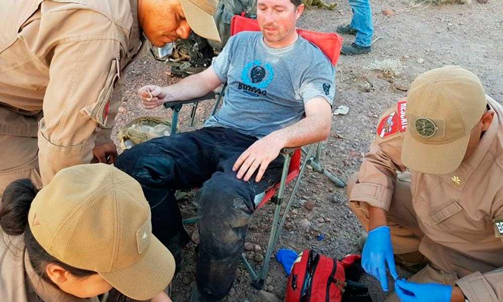 Rescatan a turista estadounidense en la zona desértica de la Laguna Salada