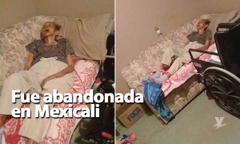 Piden apoyo para abuelita de 94 años de edad; fue abandonada en Mexicali