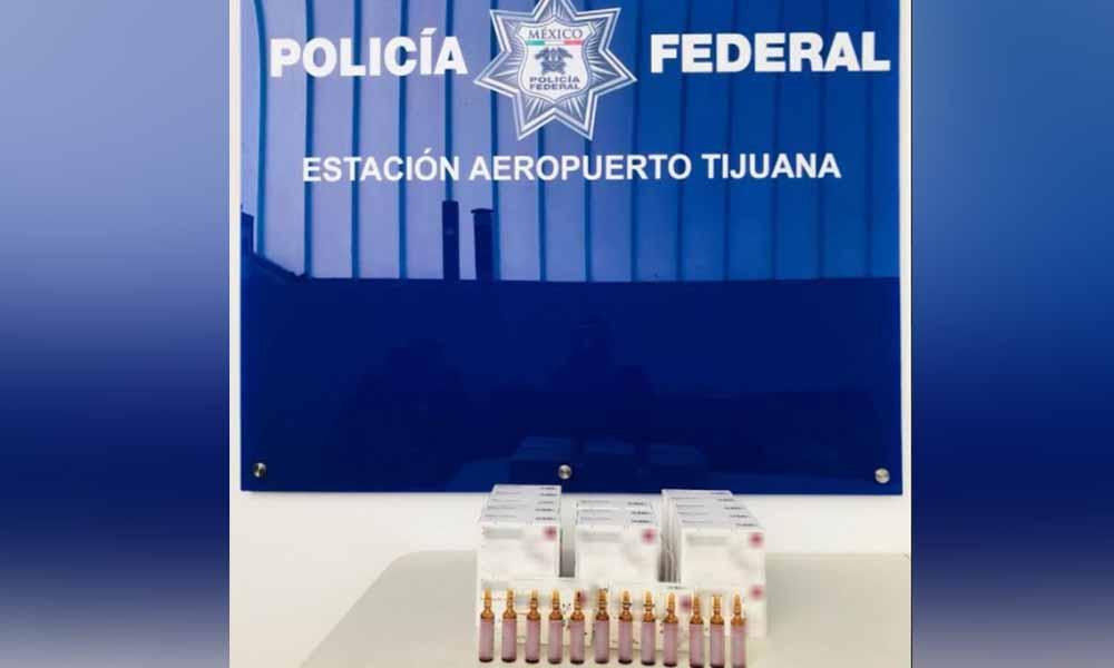 Aseguran 30 cajas con aparente fentanilo en aeropuerto de Tijuana