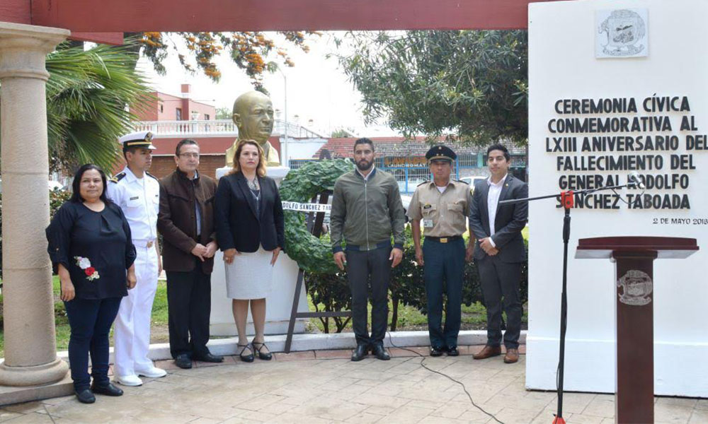 Recuerdan al General Rodolfo Sánchez Taboada en LXIII Aniversario de su fallecimiento en Ensenada