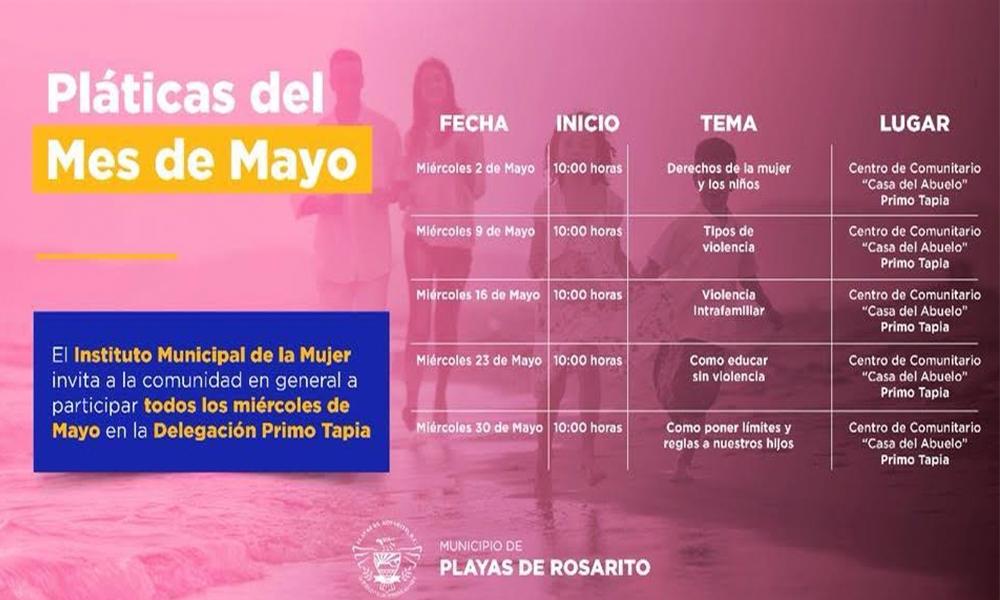 Impartirá INMUJER  plática sobre prevención de violencia en delegación Primo Tapia