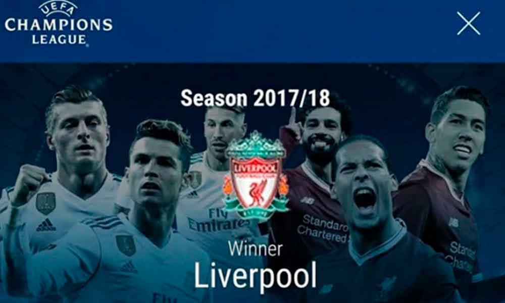 UEFA declara campeón de la Champions League al cuadro de Liverpool