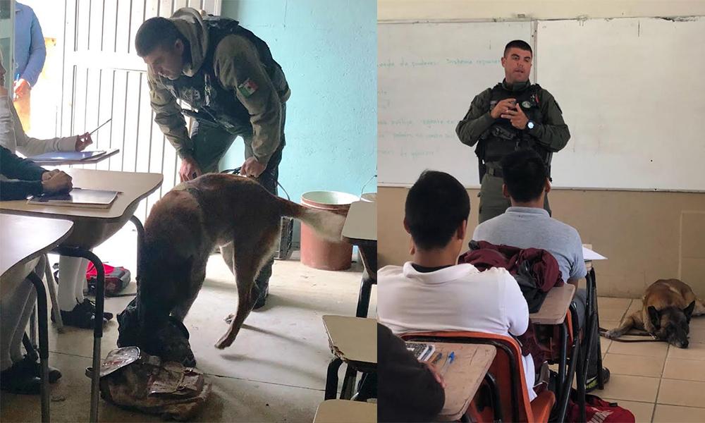 """Sorprenden a alumnos de secundaria con programa """"Mochila Segura"""" en Tijuana"""