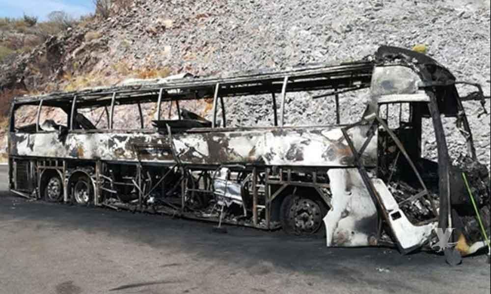 Se incendió autobús en Loreto se dirigía a Tijuana