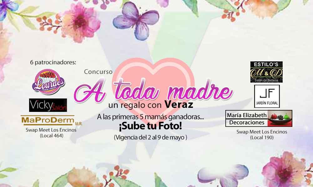 """Concurso: ¡A toda madre, un regalo con """"Veraz""""! Aquí la dinámica…"""
