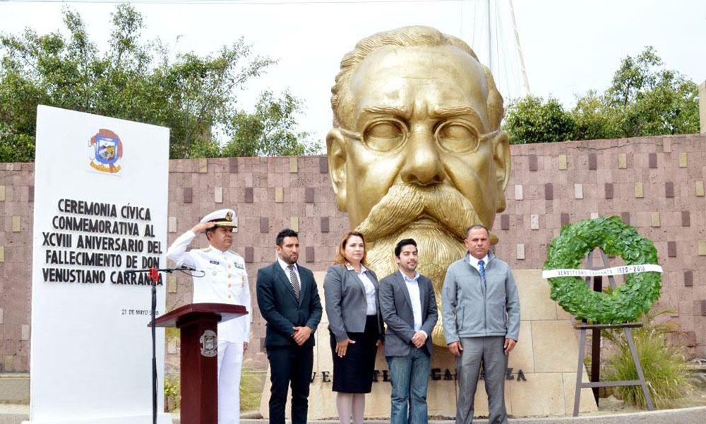 Conmemoran aniversario luctuoso de Venustiano Carranza en Ensenada
