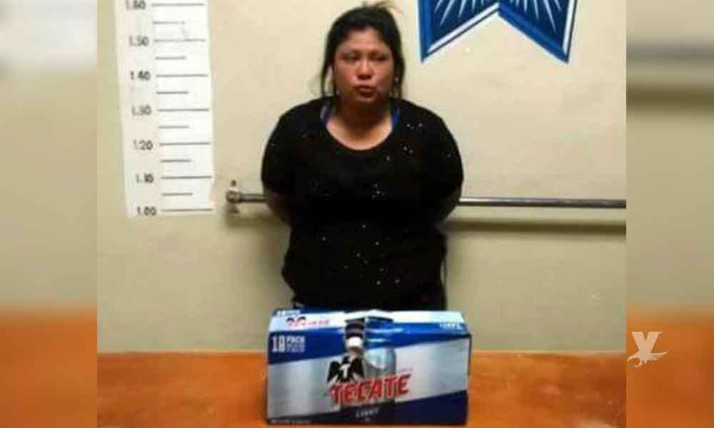 Mujer es detenida por robar cerveza para consentir a su marido