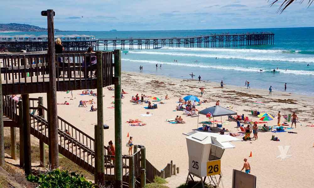 Alertan de fuertes peligros en las playas de San Diego