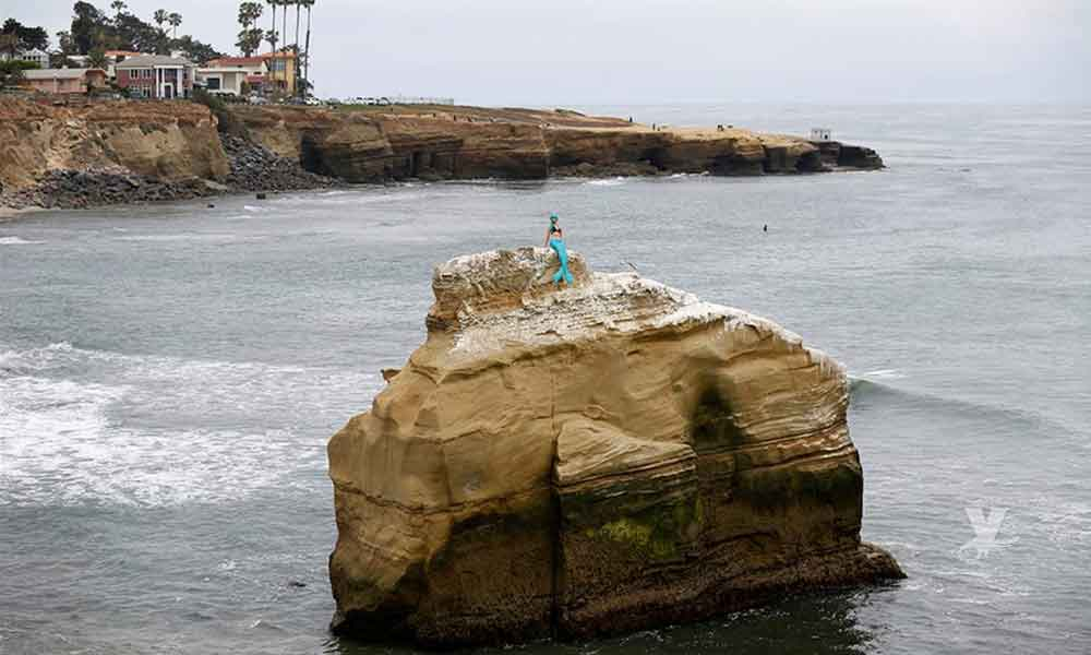 Una sirena apareció por la tarde en playas de San Diego