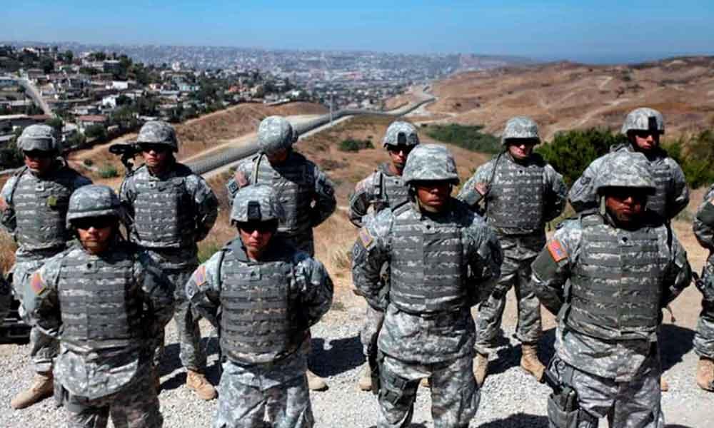 Guardia Nacional presenta 108 soldados para patrullar fronteras de California